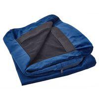 Sofabezug Für 2-sitzer Bernes Samtstoff Marineblau