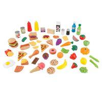 KidKraft 65-tlg. Spielzeug-Lebensmittel-Set