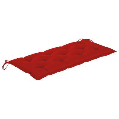 vidaXL Gartenbank mit Auflage 120 cm Massivholz Akazie, Red