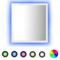 vidaXL LED-Badspiegel Hochglanz-Weiß 40x8,5x37 cm Spanplatte
