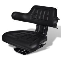 vidaXL Traktorsitz mit Rückenlehne Schwarz