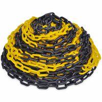 30 m Kunststoff Absperrkette gelb-schwarz