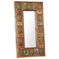 vidaXL Spiegel mit Buddha-Verzierung 50x80 cm Recyceltes Massivholz