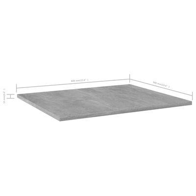 vidaXL Bücherregal-Bretter 8 Stk. Betongrau 60x50x1,5 cm Spanplatte