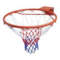 vidaXL Basketballkorb-Set Hangring mit Netz Orange 45 cm