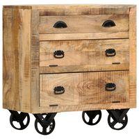 vidaXL Beistellschrank mit Rädern 70 x 40 x 75 cm Massivholz Mango