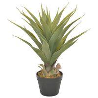 vidaXL Künstliche Pflanze Yucca mit Topf Grün 60 cm
