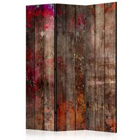 3-teiliges Paravent - Stained Wood  - 135x172 cm