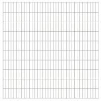 vidaXL 2D Gartenzaun-Elemente 2,008x2,03 m Gesamtlänge 38 m Silbern