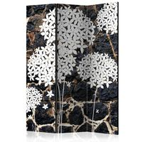 3-teiliges Paravent - Dark Garden  - 135x172 cm