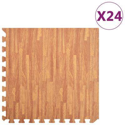 vidaXL Bodenmatten 24 Stk. Holzoptik 8,64 m² EVA-Schaum