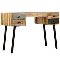 vidaXL Schreibtisch Wiederverwertetes Teak Massivholz 110 × 50 × 76 cm