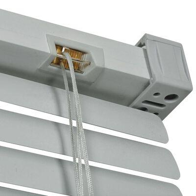 vidaXL Fensterjalousien Aluminium 80x220 cm Silber