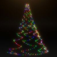 vidaXL LED-Wandbaum Metallhaken 260 LED Mehrfarbig 3 m Indoor Outdoor
