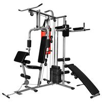Multifunktionaler Heimtrainer Fitnessgerät mit 1 Boxsack 65 kg