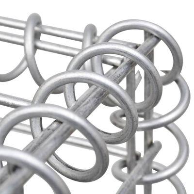 vidaXL Gabionen-Hochbeet Stahl 180×90×100 cm Silbern,