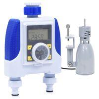 vidaXL Elektronische Bewässerungsuhr 2-fach mit Regensensor