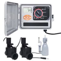 vidaXL Bewässerungssteuerung mit Regensensor und Magnetventil