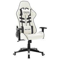 vidaXL Gaming-Stuhl Weiß und Schwarz Kunstleder