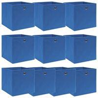 vidaXL Aufbewahrungsboxen 10 Stk. Blau 32×32×32 cm Stoff