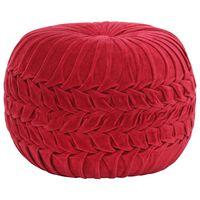 vidaXL Pouf Baumwollsamt Kittel-Design 40×30 cm Rot