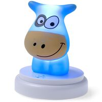 Alecto LED-Nachtlicht Naughty Cow Blau