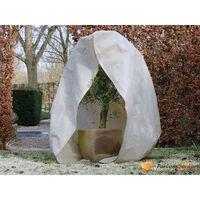 Nature Wintervlies mit Reißverschluss 70 g/m² Beige 3×2,5×2,5 m