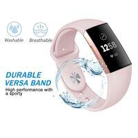 Fitbit Charge 3/4 Armband Silikon Hellrosa (s)
