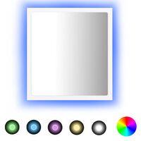 vidaXL LED-Badspiegel Weiß 40x8,5x37 cm Spanplatte