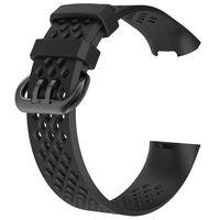 Fitbit Charge 3/4 Armband Elastomer Schwarz (s)