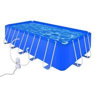 Schwimmbad Set Rechteckig 12945 L + Filterpumpe