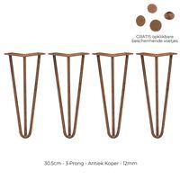 4x Hairpin Legs 30.5cm 3 Streben Tischbeine Möbelbeine Stuhlbeine 12mm