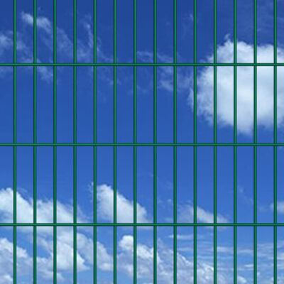 vidaXL 2D Gartenzaun-Elemente 2,008x1,63 m Gesamtlänge 32 m Grün