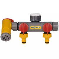 Hozelock 3-Wege-Verteiler Wasserhahn-Anschluss Flowmax
