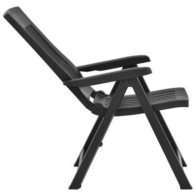 vidaXL Verstellbare Gartenstühle 2 Stk. Kunststoff Moccafarben