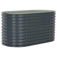 vidaXL Garten-Hochbeet 160x80x81 cm Verzinkter Stahl Grau