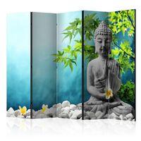 5-teiliges Paravent - Buddha: Beauty of Meditation II  - 225x172 cm