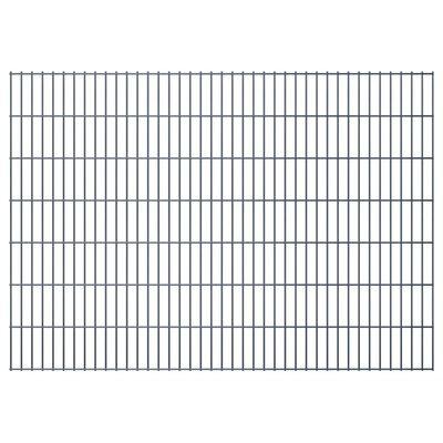 vidaXL Gabionenzaun Stahl Verzinkt 2,008x1,43 m Gesamtlänge 4 m Grau,