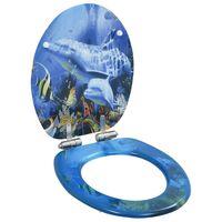 vidaXL Toilettensitz mit Soft-Close-Deckel MDF Delphine-Design
