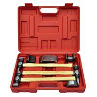 vidaXL 7-tlg. Karosserie-Ausbeulset Ausbeulhammer Dellen-Reparatur-Set