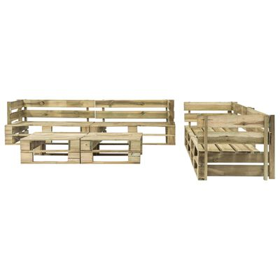vidaXL 6-tlg. Garten-Lounge-Set Paletten Rote Auflagen Holz