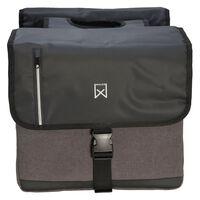 Willex Doppelte Business-Fahrradtasche 46 L Schwarz und Grau