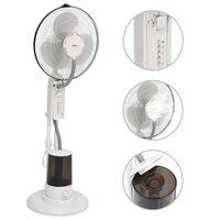 vidaXL Sprühnebel-Standventilator mit 3 Geschwindigkeiten Weiß