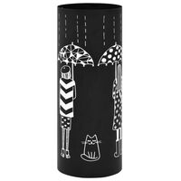 vidaXL Regenschirmständer Frauen-Design Stahl Schwarz