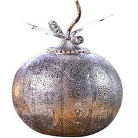 Luxform LED-Gartenlicht Batteriebetrieben Pumpkin Antik Silbern
