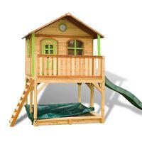 Kinderspielhaus Sandkasten&Rutsche 200x435x294cm