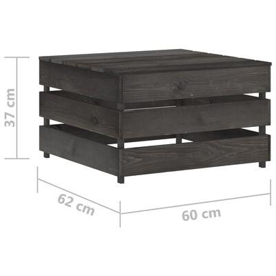 vidaXL 10-tlg. Garten-Lounge-Set mit Kissen Grau Imprägniertes Holz