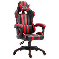 vidaXL Gaming-Stuhl Rot Kunstleder