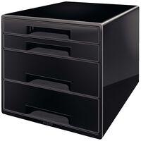 Leitz Schubladenbox Cube 4 Schubladen Schwarz