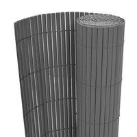 vidaXL Gartenzaun Doppelseitig PVC 90 x 500 cm Grau